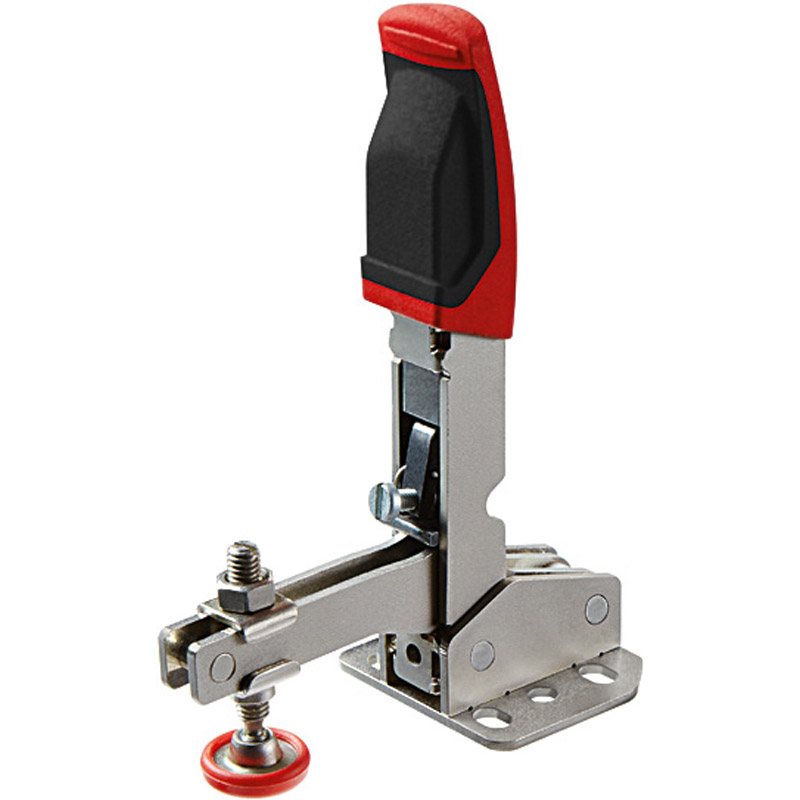 Self-adjusting toggle clamps